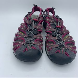 Keen Water Shoes Neutral Gray Beet Red Size 9